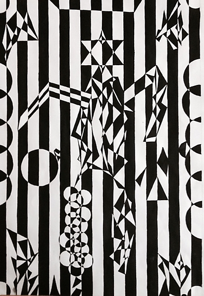 Januar 2015 - Op-Art (Lea Stump, 7b)